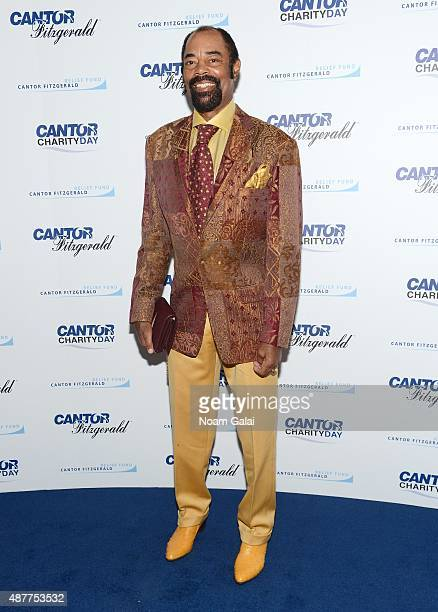 Basketball player Walt Frazier attends the annual Charity Day hosted by Cantor Fitzgerald and BGC at Cantor Fitzgerald on September 11, 2015 in New...