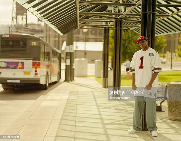 Basketball Player Zach Randolph at Bus Stop