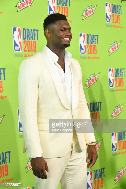Basketball player Zion Williamson attends the 2019 NBA Draft at Barclays Center on June 20, 2019 in New York City.