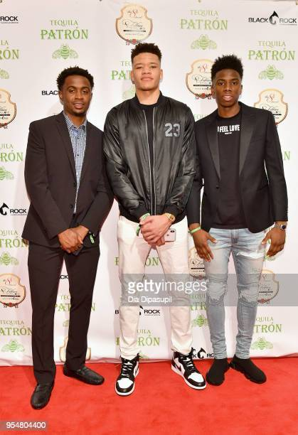 Basketball players Doron Lamb Kevin Knox and Hamidou Diallo attend the 8th Annual Fillies Stallions hosted by Patron and Black Rock Thoroughbreds at...