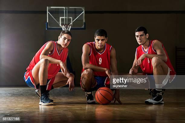 Joueurs de basket.