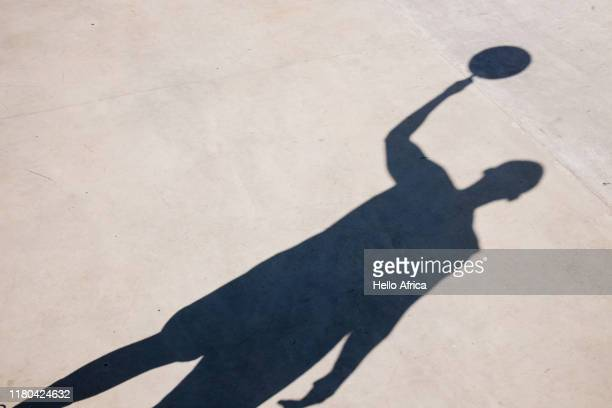 A basketball player's shadow