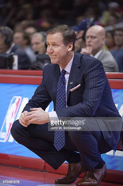 Portland Trail Blazers head coach Terry Stotts during game vs Los Angeles Clippers at Staples Center Los Angeles CA CREDIT John W McDonough