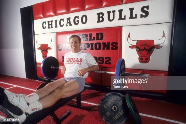 Portrait of Chicago Bulls strength and conditioning coach Al Vermeil during photo shoot in weight room at team training facility Milwaukee WI CREDIT...