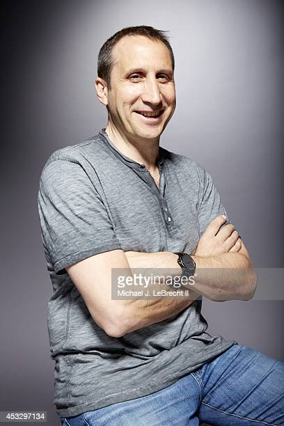 Portrait of Cleveland Cavaliers coach David Blatt during photo shoot at Time Inc Digital Studio in Time Life Building New York NY CREDIT Michael J...