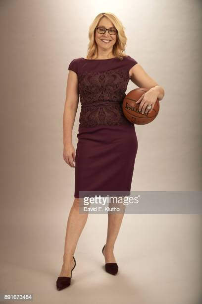 Portrait of ESPN NBA analyst Doris Burke posing during photo shoot before game at Little Caesars Arena Detroit MI CREDIT David E Klutho