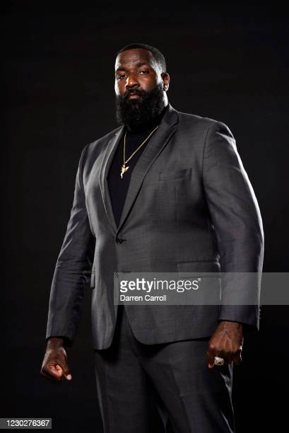 Portrait of ESPN television personality and former NBA player Kendrick Perkins posing during photo shoot at home. Tomball, TX 9/29/2020 CREDIT:...