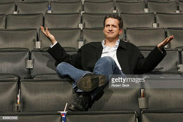 Portrait of ESPNcom writer Bill Simmons in stands before Los Angeles Clippers vs New Jersey Nets game Los Angeles CA 1/25/2006 CREDIT Robert Beck