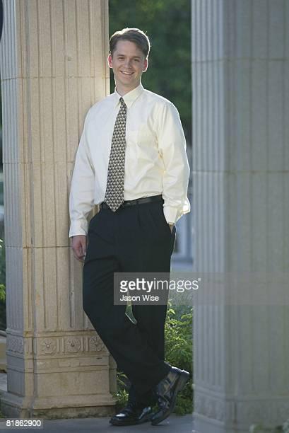 Basketball: Portrait of former player Orem HS Brian Crow, Chandler, AZ 6/8/2004
