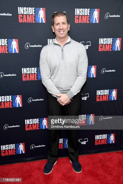 """Basketball referee Tim Donaghy attends the New York premiere of """"Inside Game"""" at Metrograph on October 30, 2019 in New York City."""