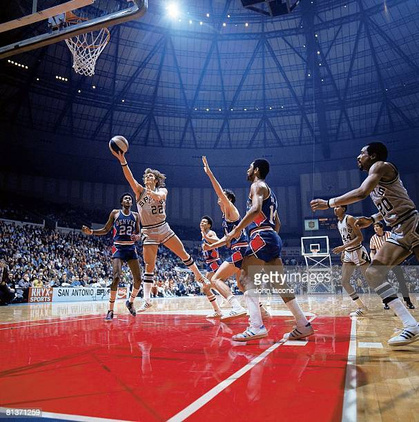 San Antonio Spurs George Karl in action taking shot vs Denver Nuggets San Antonio TX 1/25/1975