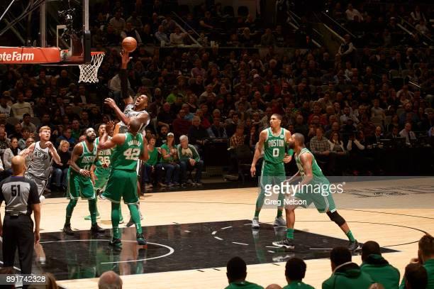 San Antonio Spurs LaMarcus Aldridge in action vs Boston Celtics at ATT Center San Antonio TX CREDIT Greg Nelson