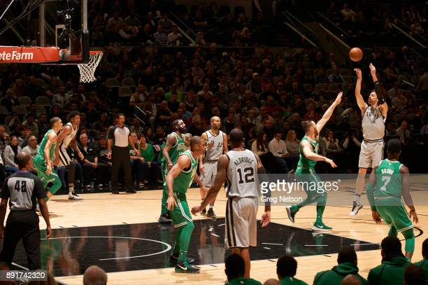 San Antonio Spurs Pau Gasol in action shooting vs Boston Celtics at ATT Center San Antonio TX CREDIT Greg Nelson