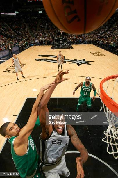 San Antonio Spurs Rudy Gay in action vs Boston Celtics Jayson Tatum at ATT Center San Antonio TX CREDIT Greg Nelson