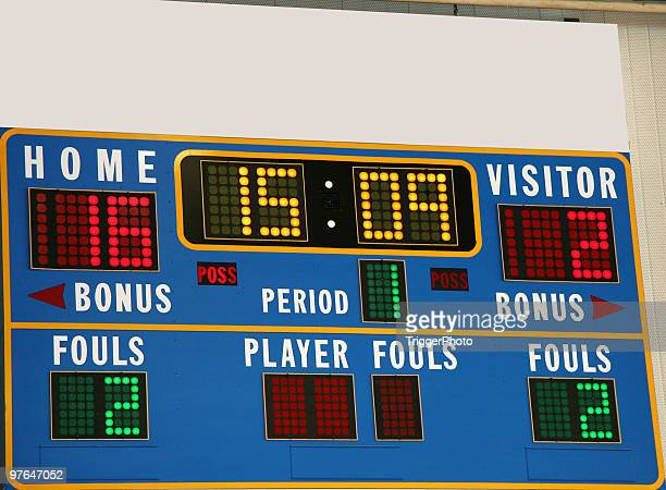 basketball scoreboard - scoring stock pictures, royalty-free photos & images