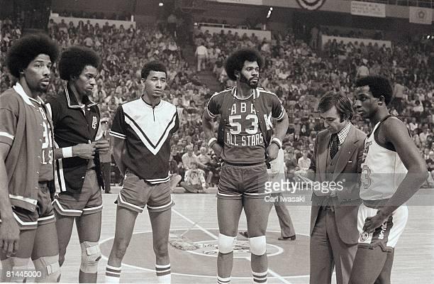Slam Dunk Contest New York Nets Dr J Julius Erving San Antonio Spurs Larry Kenon San Antonio Spurs Ice Man George Gervin Kentucky Colonels Artis...