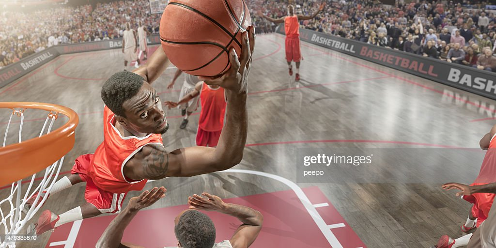 Basketball Slam Dunk : Stock Photo