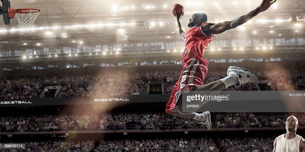 Basketball-Slam Dunk : Stock-Foto