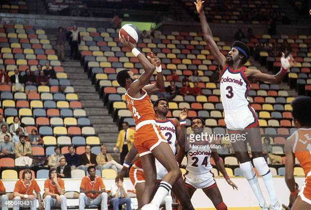 Spirits of St Louis Marvin Barnes in action shot vs Kentucky Colonels Caldwell Jones at Riverfront Coliseum Cincinnati OH CREDIT Manny Millan
