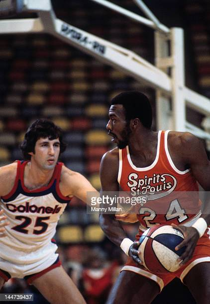 Spirits of St Louis Marvin Barnes in action vs Kentucky Colonels at Riverfront Coliseum Cincinnati OH CREDIT Manny Millan