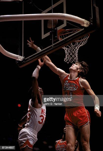 St Louis Spirits Gus Gerard in action vs New York Nets Larry Kenon Uniondale NY 2/28/1975