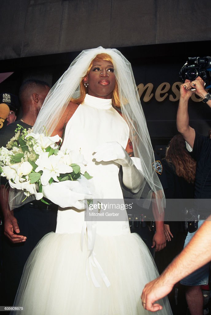 Dennis Rodman Dressed as a Bride Pictures | Getty Images