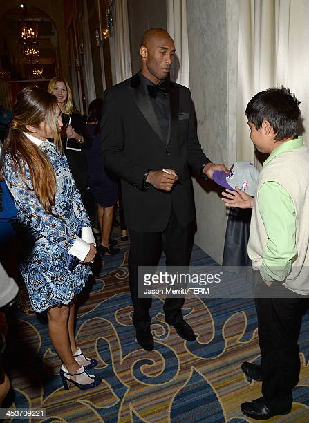 Basketball Star Kobe Bryant and his wife Vanessa Laine attend the MakeAWish Greater Los Angeles 30th Anniversary Gala on December 4 2013 in Los...