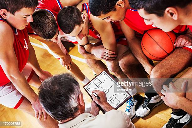 basketball strategy. - basketball team stock pictures, royalty-free photos & images