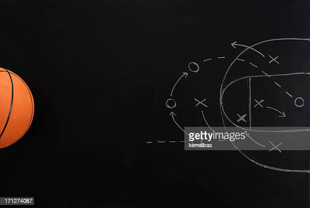 basketball strategy - diagram stock pictures, royalty-free photos & images
