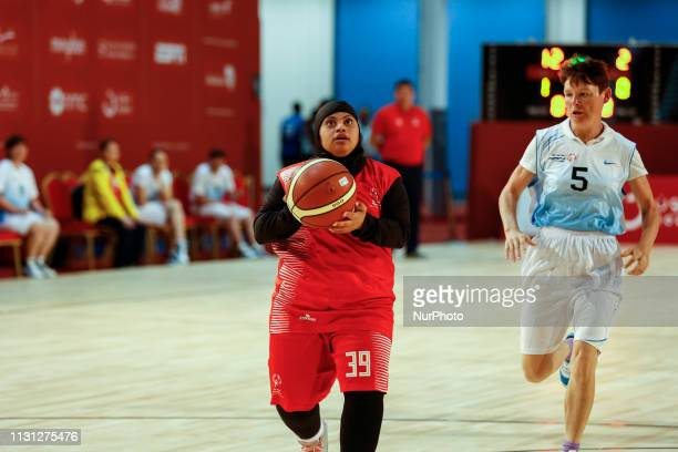 UAE basketball team fights Kazakhstan during Special Olympics World Games in Abu Dhabi National Exhibition Centre United Arab Emirates on March 17...