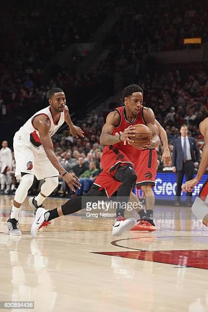 Toronto Raptors DeMar DeRozan in action vs Portland Trail Blazers at Rose Garden Portland OR CREDIT Greg Nelson