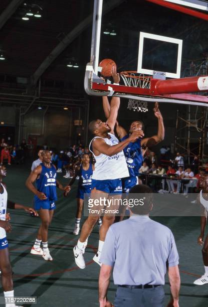US Olympic Trials Auburn Charles Barkley in action block during game at IU Fieldhouse on Indiana University campus Bloomington IN CREDIT Tony Tomsic