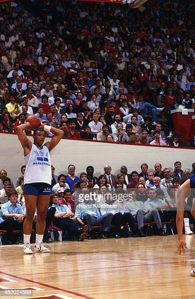 US Olympic Trials Auburn Charles Barkley in action during scrimmage at Assembly Hall Bloomington IN CREDIT Heinz Kluetmeier