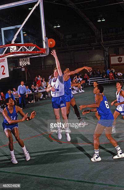 US Olympic Trials St John's Chris Mullin in action layup during scrimmage at IU Fieldhouse on Indiana University campus Bloomington IN CREDIT Tony...