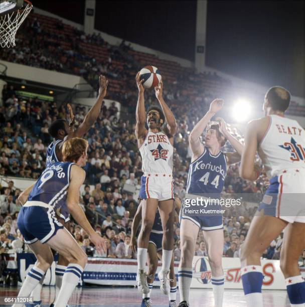Utah Stars Willie Wise in action shooting vs Kentucky Colonels at Salt Palace Salt Lake City UT CREDIT Heinz Kluetmeier