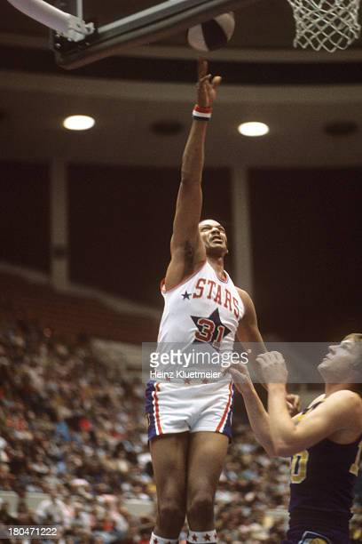 Utah Stars Zelmo Beaty in action vs Indiana Pacers at The Salt Palace Salt Lake City UT CREDIT Heinz Kluetmeier