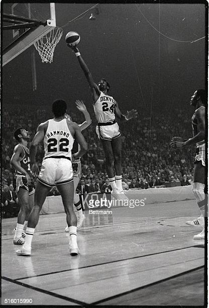 ABA Basketball Washington Caps vs Denver Rockets Spencer Haywood of Denver goes for a layup Photograph 4/17/70