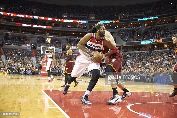 Washington Wizards Nene in action vs Cleveland Cavaliers at Verizon Center Washington DC CREDIT Simon Bruty