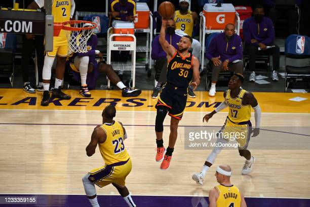 West PlayIn: Golden State Warriors Stephen Curry in action vs Los Angeles Lakers at Staples Center. Game 1. Los Angeles, CA 5/19/2021 CREDIT: John W....