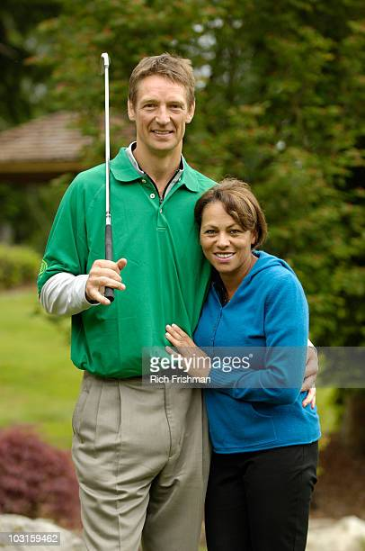 Where Are They Now Portrait of former NBA player Detlef Schrempf with his wife Mari during 17th Annual Detlef Schrempf Foundation Celebrity Golf...