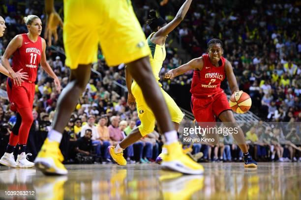 WNBA Finals Washington Mystics Ariel Atkins in action vs Seattle Storm at Key Arena Game 2 Seattle WA CREDIT Kohjiro Kinno