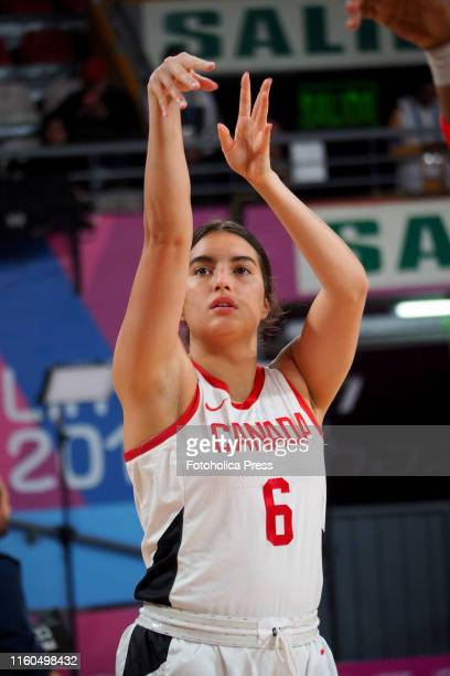 Basketball women's Aislinn Konig from Canada in action during the match between Canada and Argentina at the Lima 2019 Pan American Games