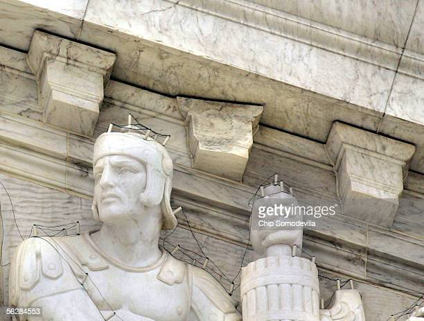 A basketballsized piece of the United States Supreme Court's dentil molding broke off and fell onto the steps directly in front of the building...