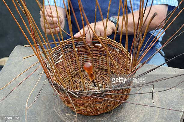 Basketmaker's hands in action