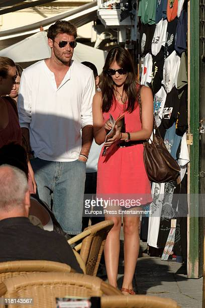 NBA basketplayer Rudy Fernandez and his girlfriend the model Helen Lindes are seen sighting on July 3 2011 in Ibiza Spain
