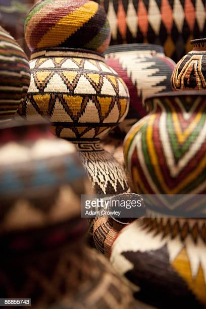 Baskets made by Embera and Wounaan Indians.