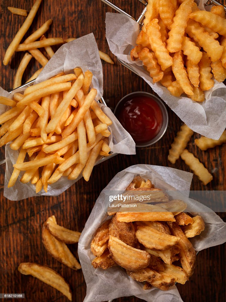 Baskets of French Fries : Stock Photo
