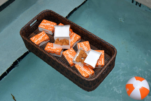 FL: Popeyes Nuggets Activation At Sports Illustrated Swimsuit Party