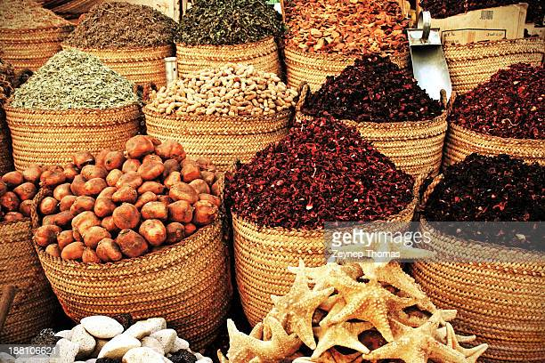 Baskets of spices in Spice Bazaar