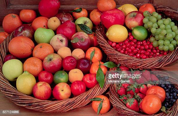 Baskets Overflowing With Fruit
